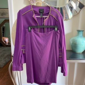 Doncaster purple suit jacket and skirt set NWT